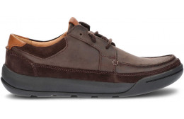 CLARKS ASHCOMBE SHOES DARK_BROWN