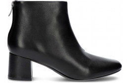 CLARKS SHER55 ZIP ANKLE BOOTS BLACK