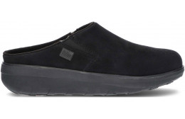 FITFLOP LOAFF SUEDE CLOGS B80 BLACK