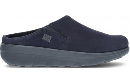 FITFLOP LOAFF SUEDE CLOGS B80 NAVY