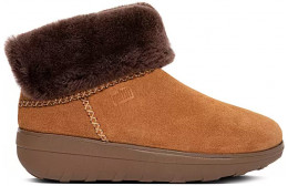 FITFLOP MUKLUK SHORTY Y88 ANKLE BOOTS NUT