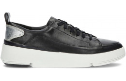 CLARKS TRI FLASH LACE SNEAKERS BLACK