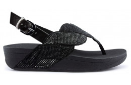 Sandálias FITFLOP PAISLEY ROPE BACK STRAP BLACK